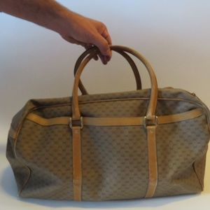 AUTHENTIC RARE GUCCI TAN CARRY-ON WEEKEND BAG